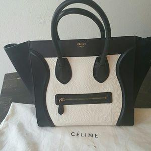 Celine Handbags - AUTHENTIC CELINE MICRO LUGGAGE