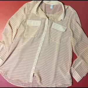 Old Navy Tops - Old Navy Sheer Button Down