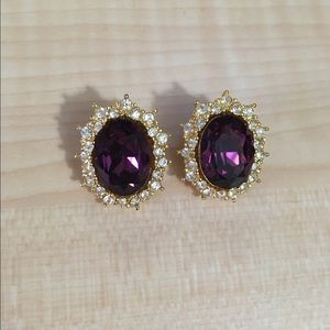 Jewelry - Christian Dior earrings purple and gold