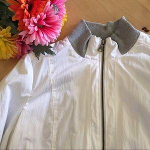 Banana Republic Jackets & Blazers - White + Gray Zipper Jacket