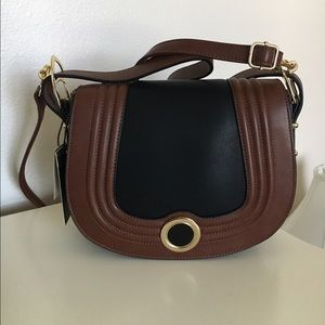 New brown and black purse