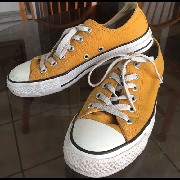 479600a0cfbebd Converse Shoes - Mustard Yellow Converse Chucks