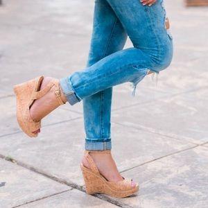 Elaine Turner Shoes - Elaine Turner cork wedge sandals