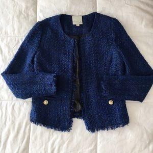 Olive & Oak Jackets & Blazers - Olive & Oak Blue Tweed jacket