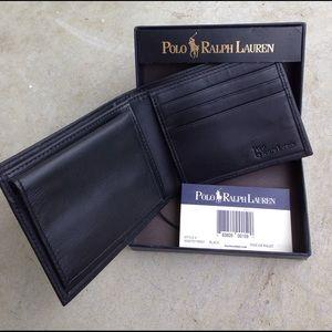 Polo by Ralph Lauren Other - Polo Ralph Lauren black leather bi-fold wallet