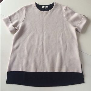 Madewell Sweaters - Madewell sweater colorblock tan black short sleeve