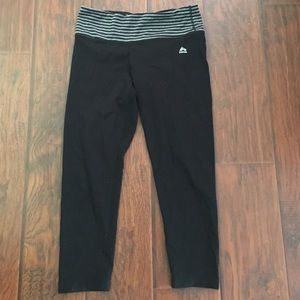 RBX Pants - Black RBX cropped leggings with striped waistband