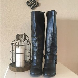 Diba Shoes - Diba Tall Black Boots, Size 8 1/2