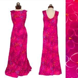 Vintage 60's Maier Specialty Hawaiian Maxi Dress