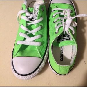 Converse Other - Brand new lime green converse