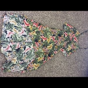 Floral low high dress