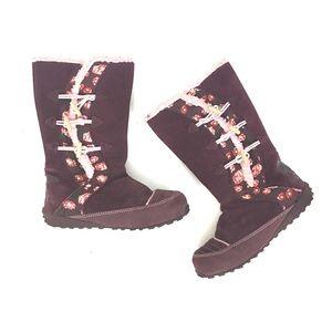 Sorel Other - Sorel Floral maroon toggle boots