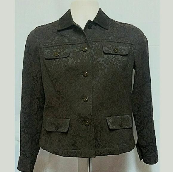 Jones New York Jackets & Blazers - Jones New York Signature Jacket Brown Size PS