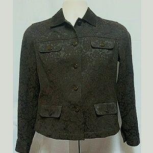 Jones New York Signature Jacket Brown Size PS