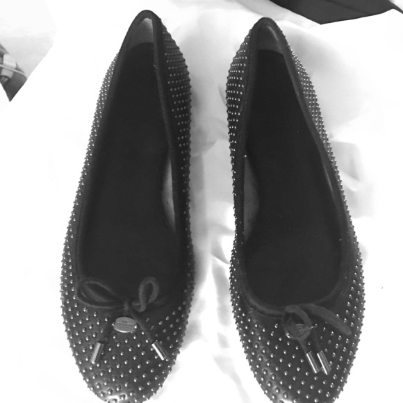 Womens Shoes COACH Lara Black Studded