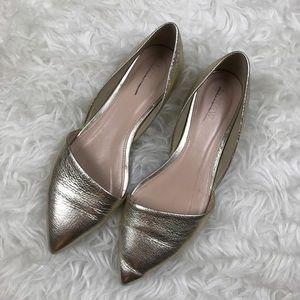 J. Crew Shoes - J. Crew Gold Sloan D'Orsay Flats