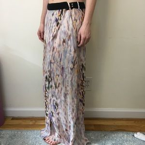 A.L.C. Dresses & Skirts - A.L.C. Abstract Silk Watercolor Printed Maxi Skirt