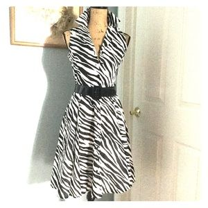 🎉 SALE!!🎉 Jones NY petite zebra belt shirt dress