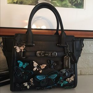 Coach Handbags - SALE!! Coach Butterfly Appliqué Swagger 21 -Firm!