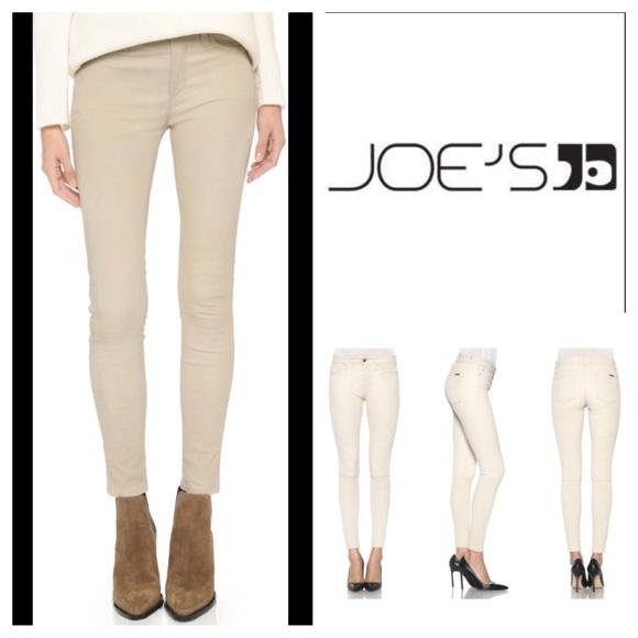 7107545c39 Joe's Jeans Jeans   Joes Beige Leather Skinny Ankle Pants   Poshmark