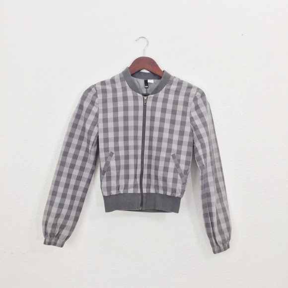 67% off Divided Jackets & Blazers - H&M Checkered Bomber Jacket ...