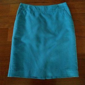 Cute Bright Blue Pencil Skirt