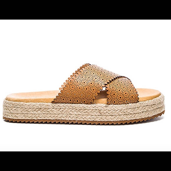 Matisse Shoes - New Matisse slide sandals perforated cognac
