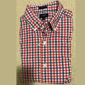J. Crew Other - JCREW SLIM PATTERNED GINGHAM BUTTON UP SHIRT