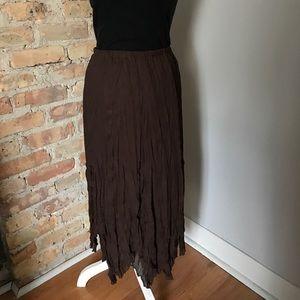 Allison Taylor Dresses & Skirts - Allison Taylor broomstick boho skirt size 20 brown