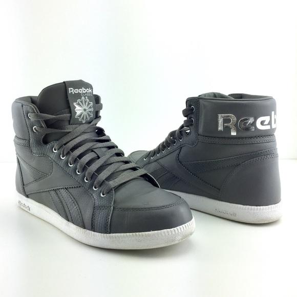 841f60a02db 24hr SALE Reebok Royal Kewtee Gray HighTop Sneaker.  M 58ac9dd27fab3ac4dd004115