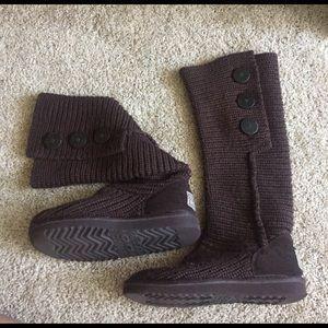 UGG Shoes - UGG cable knit sweater boots