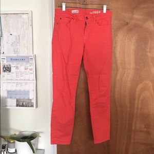 GAP Denim - Coral Gap cropped pants