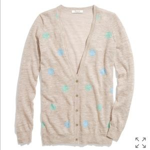Madewell Sweaters - Madewell Fairweather Cardigan in Doubledot szL