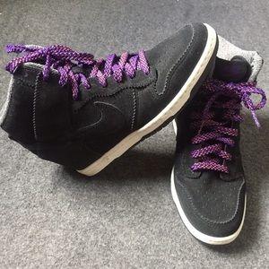 Nike Shoes - Nike Dunk Sky High Suede Wedge