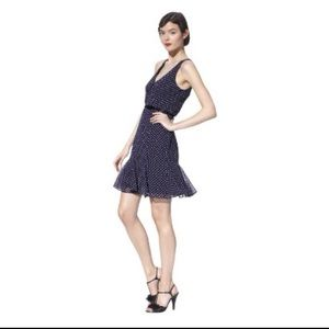 Kate Young Target navy polka dot dress, 6