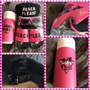 PINK Victoria's Secret Accessories - BNWT Pink Victoria'sSecret Beach Please Bundle
