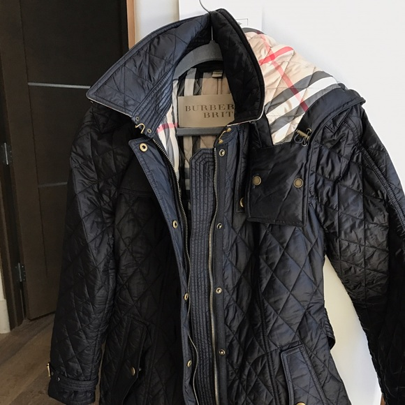 Burberry Jackets Coats Finsbridge Belted Quilted Jacket Size Xl