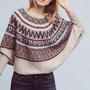 Anthropologie Sweaters - NWT Anthropologie fairisle circular poncho sweater