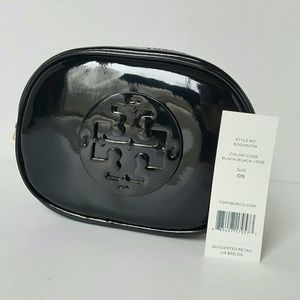 TORY BURCH SMALL PATENT COSMETIC CASE
