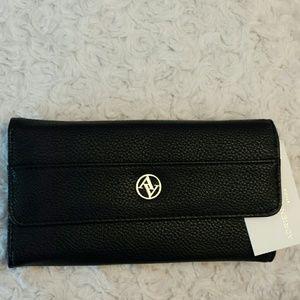 Adrienne Vittadini Handbags - Adrienne Vittadini NWT Black Leather Wallet