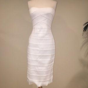 New River Island white bodycon dress