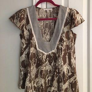 Anthropologie- Corey Lynn Calter - Giraffe shirt 2