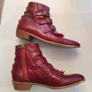 Modern Vice Shoes - MODERN VICE Jett Classic Ankle Boots in Oxblood