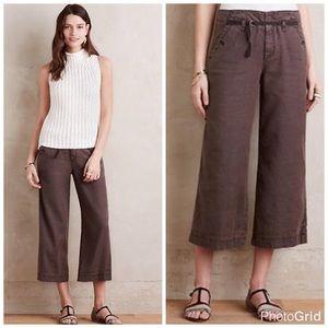Anthropologie Pants - Pilcro & The Letterpress Linen Wide Leg Culottes
