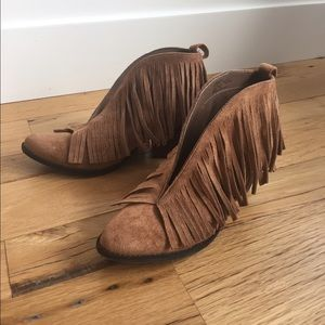 Shoes - fringe booties by coconuts