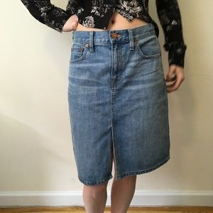 Madewell Denim High Rise Midi Skirt