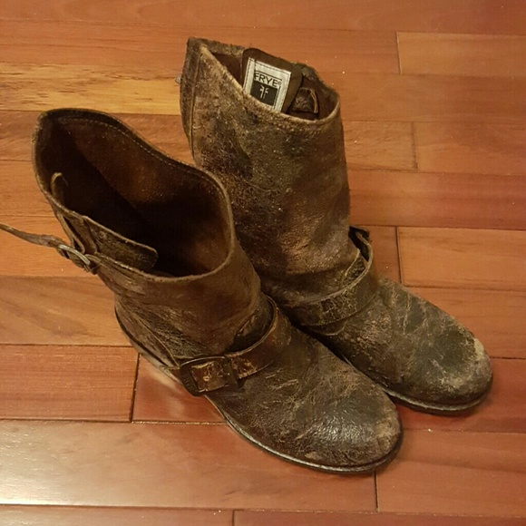 2c71916a79 Frye Shoes - -FLASH SALE-Frye Veronica Slouch Distressed Boot