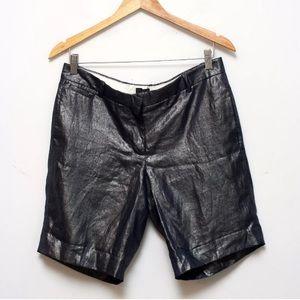 J. Crew Bocono Metallic Linen Bermuda Shorts