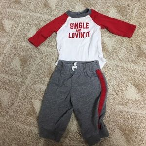 Carter's Other - Single and love it three month old outfit