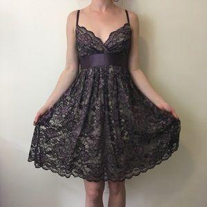 Aqua Dresses & Skirts - Aqua Purple Lace Overlay Sleeveless Dress